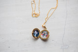 Little gold locket for wife after husband passed from cancer