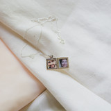 Small Silver Square Locket to Keep Friend and Grandmother Close to Her Heart