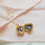 Small Gold Heart Locket Gift for Mother-in-Law's Birthday
