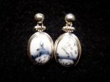Dendrite Opal Stud Earrings 7