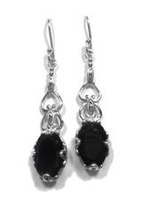 Black Onyx Dangle Earrings 1