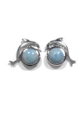Larimar Stud Earrings 36