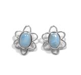 Larimar Stud Earrings 37