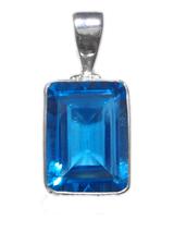 Blue Topaz Pendant 2
