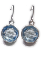 Blue Topaz Dangle Earrings 2