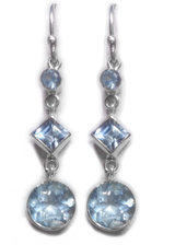 Blue Topaz Dangle Earrings 4