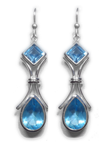 Blue Topaz Dangle Earrings 6