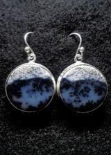 Dendrite Opal Dangle Earrings 1