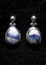 Dendrite Opal Stud Earrings 10