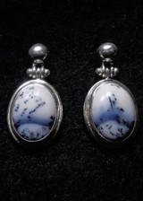 Dendrite Opal Stud Earrings 12
