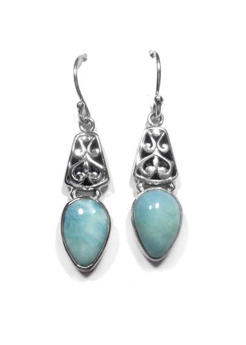 Larimar Dangle Earrings 2