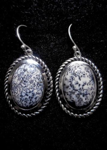Dendrite Opal Dangle Earrings 2