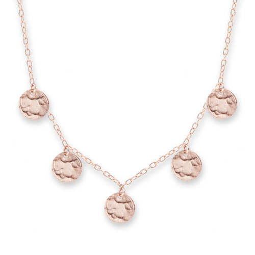 Scattered Jingle Necklace Rose Gold