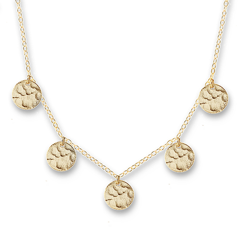 Scattered Jingle Necklace Gold