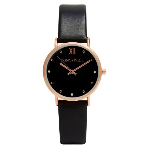 Jewel Black Leather