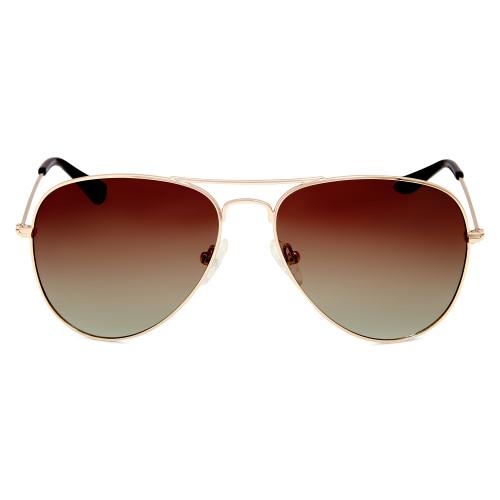 Shiny Gold Polarised Sunglasses
