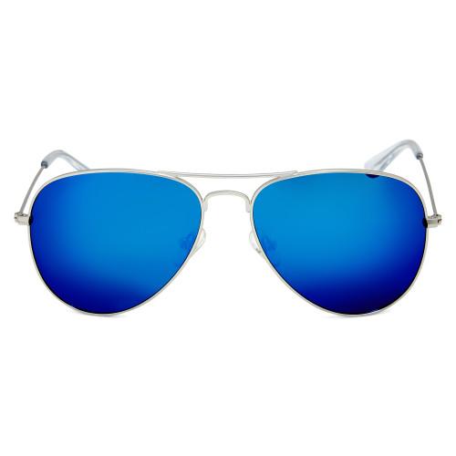 Matt Silver Polarised Sunglasses