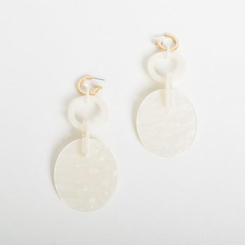 Resin Ring Link Earrings