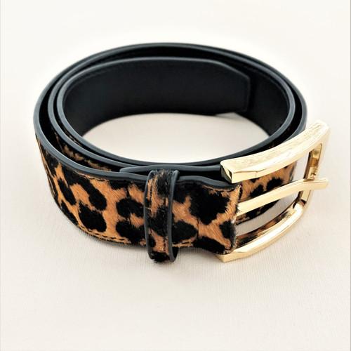 Hide Belt Leopard