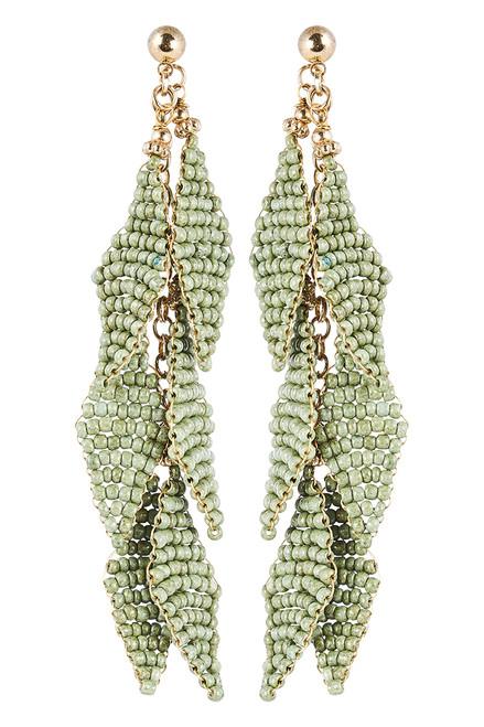 Kalahari Leaf Earring in Sage