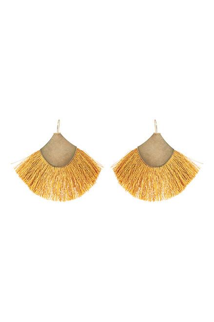 Kalahari Fan Earring in Saffron