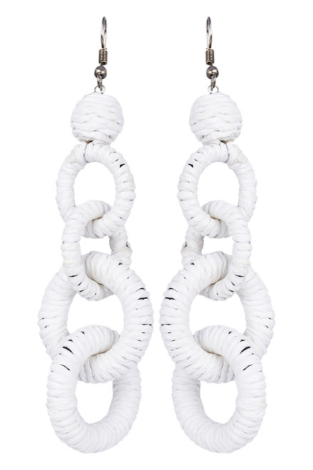 Sabi Link Earring in White