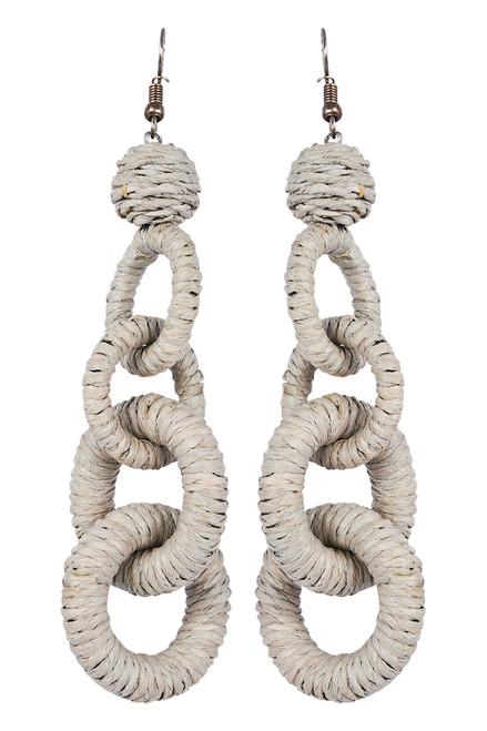 Sabi Link Earring in Sand
