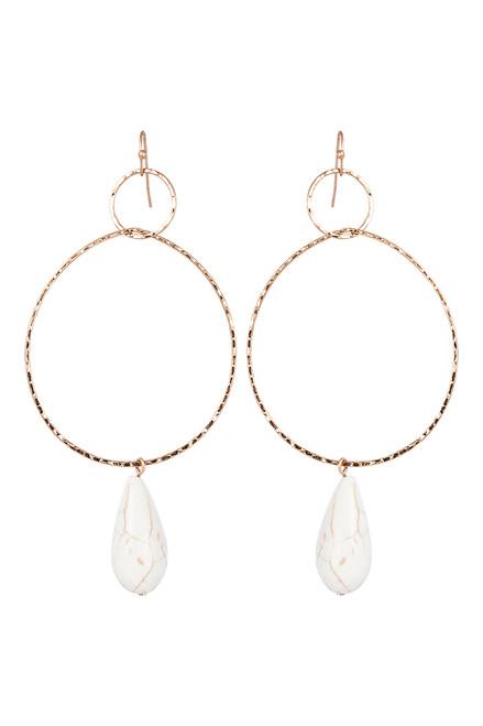 Moya Stone Earring in Salt