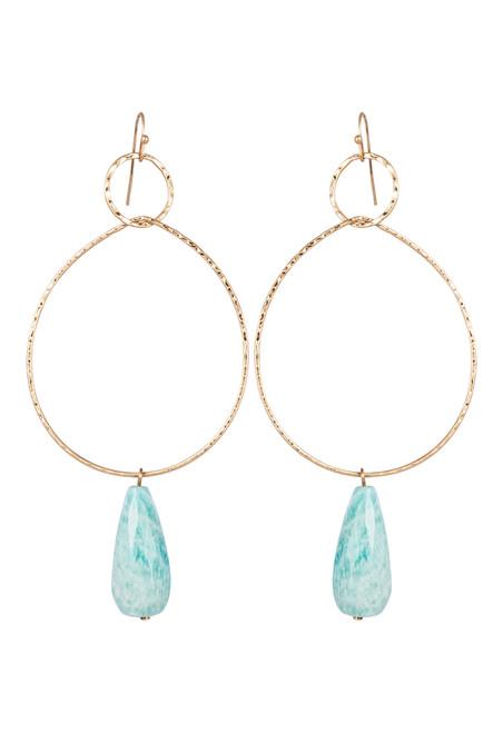 Moya Stone Earring in Sage