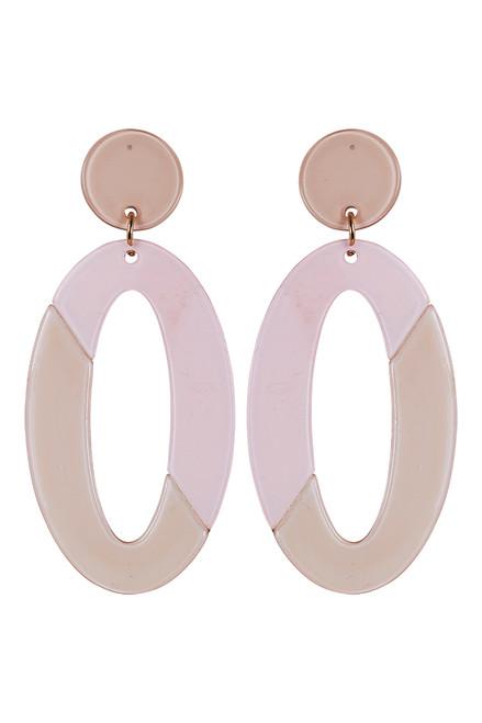 Kana Drop Earrings in Blush