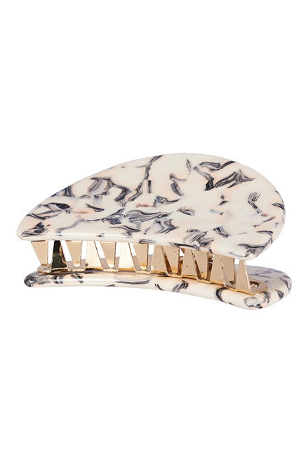 Manyara Mini Claw in Ivory Mottle