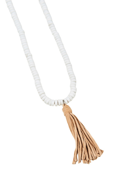 Sable Tassel Necklace in Salt