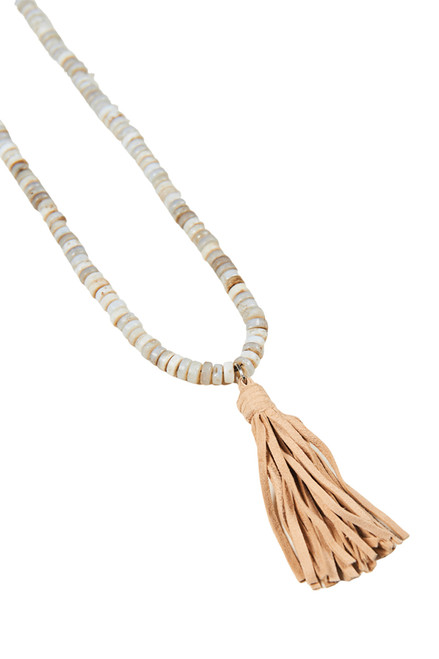 Sable Tassel Necklace in Sand