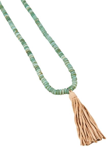 Sable Tassel Necklace in Sage