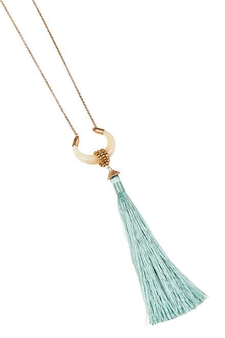 Katavi Moon Necklace in Sage
