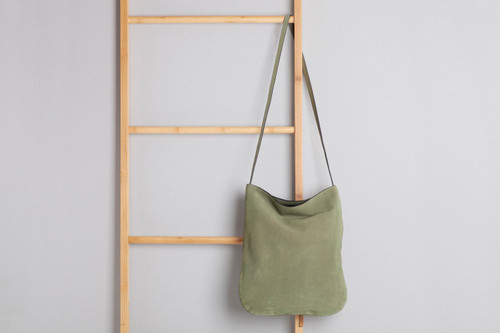 Suede Slouchy Bag Olive