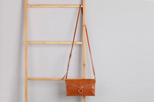 Agnes Leather Clutch Bag Walnut