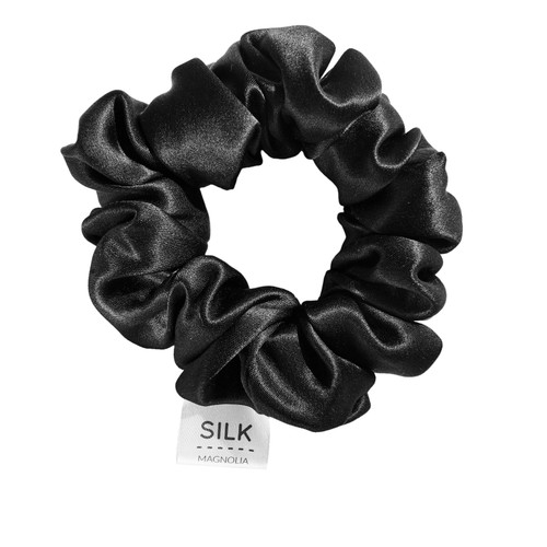 Silk Scrunchie - Black