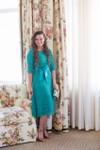 Teal A Night in Paris Dress is the perfect modest bridesmaids dress.