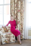Magenta A Night in Paris Dress is the perfect modest bridesmaids dress.