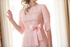 Blush A Night in Paris Dress is the perfect modest bridesmaids dress.