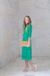 Kelly Green A Night in Paris Dress is the perfect modest bridesmaids dress.
