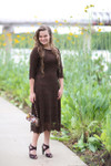 Chocolate A Night in Paris Dress is the perfect modest bridesmaids dress.