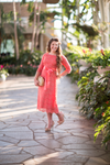 Salmon A Night in Paris Dress is the perfect modest bridesmaids dress.