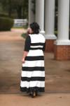 Vintage Chic Lady Dress (Black)