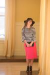 HOT PINK Modest Dainty Jewell's Original Pencil Skirt