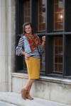 Mustard Modest Dainty Jewell's Original Pencil Skirt