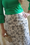 BLACK & WHITE CLOCKS Modest Dainty Jewell's Original Pencil Skirt