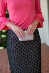 BLACK & CREAM LACE Modest Dainty Jewell's Original Pencil Skirt