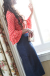 DENIM BLUE Modest Dainty Jewell's Original Pencil Skirt